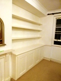 W1 fitted made to measure floating shelves